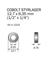 Kullager 12,7 x 6,35mm (1/2