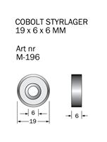 M-196 Kullager 19 x 6 x 6 mm