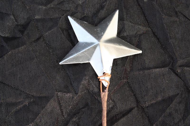Stjärna metall med tråd silver 24/fp