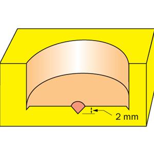 HM Beslagsfräs D=35 TL=57 S=8
