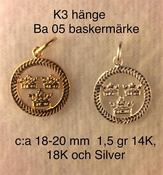 Veteran hänge K3 & BA 05 1,8 gr 18K Guld