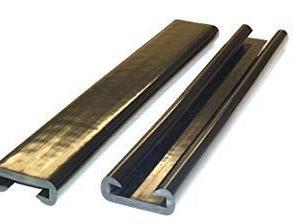 Håndløperprofil 40x8 mm Sort – 25 meter