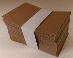 Kuvert papper brunkraft 7x11cm 100/fp