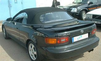 Sufflett Toyota Celica 91-93 tyg svart combo plastruta