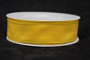 Band 25 mm 25 m/r taft gul med tråd