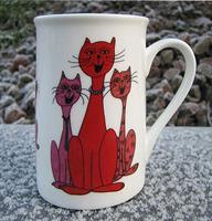 Kaffemugg Tre sjungande röda