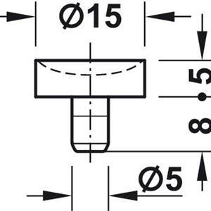 Demper for glassunderlag Ø15 mm - 10 stk