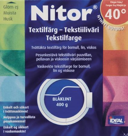 TEXTILFÄRG BLÅKLINT 06 NITOR