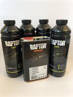 U-Pol Raptor Tough & Protective Bed Liner Black 4 Liter Kit, RLB/S4