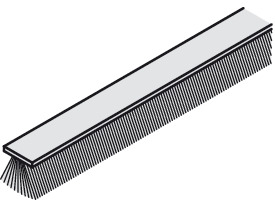 Børstelist 4,8x5 mm grå m/tape - Løpemeter