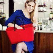 Hinza väska röd stor