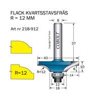 Kvartsstavfräs flack R=12 D=40 L=10 S=8