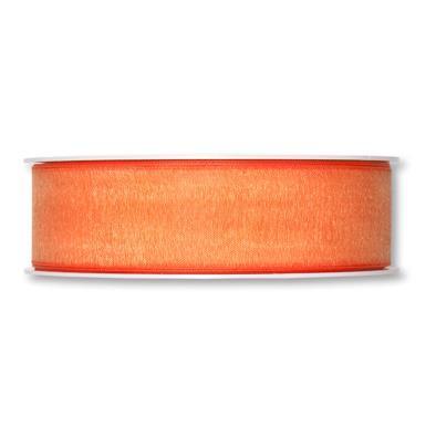 Band 25 mm 50 m/r Organza Orange