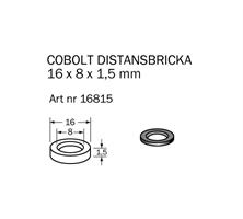 Distansbricka 16 x 8 x1,5 mm