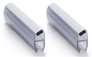 Magnetlist 135 gr. for 10 mm glass, hvit - 1 par