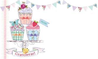 Kort Cupcake gratulerar 100/fp