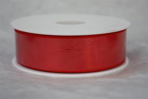 Band 25 mm röd satin 25 m/r ej tråd