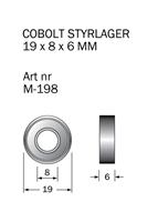 M-198 Kullager 19 x 8 x 6 mm