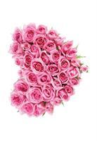 Kort Vikbara Pink Rose heart 25/fp