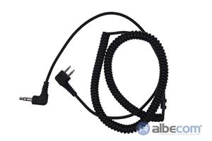 Kabel Peltor 2-stift FL6H-SV-Vinklad kontakt