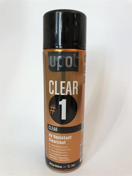U-Pol klarlack spray 450 ml, CLEAR#1
