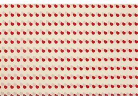 Silkespapper 240 ark hjärta natur/röd