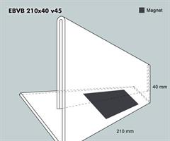 Etiketthållare EBVB 210-40F vinklad 45°