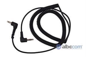 Kabel Hörselskydd 3,5mm.FL8H-SV-Vinklad kontakt