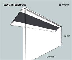 Etiketth. EXVB 210-50F 45V mag