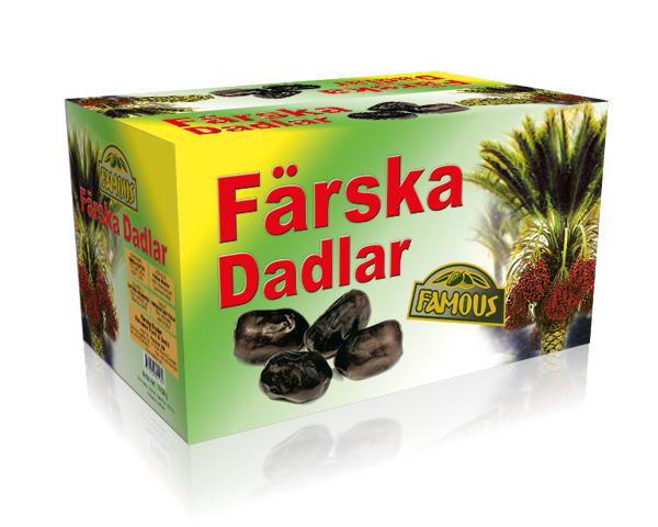 Färska Dadlar Famous 12 x 600g