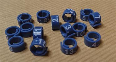 Märkring 5 mm - numr. 1-15