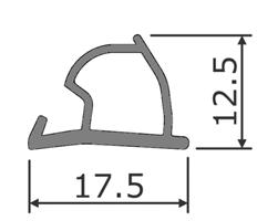 Dør/vindusprofil 6354 Grå - Løpemeter