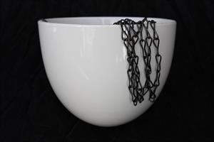 Ampel keramik vit rund D18cm 4/fp