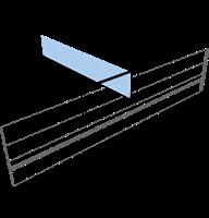 Hållare grenställ 30x60 mm, vinklad 90°, skumtejp
