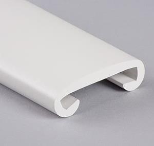 Håndløperprofil 40x8 mm Hvit - Løpemeter
