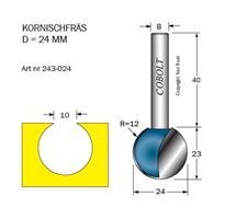 Kornischfräs R=12 D=24 L=23 S=8