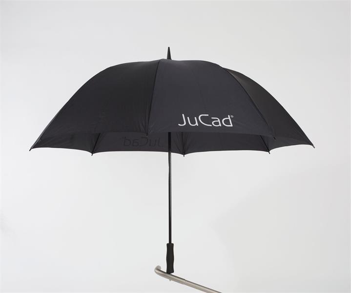 JuCad Golfparaply inkl. Teleskopisk pigg, Svart