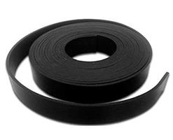 Gummistrips 100x3 mm sort u.lim SBR/NR - Løpemeter