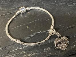 Twirling Heart Bracelet