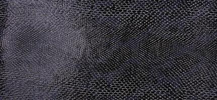 Konstläder ormskinn svart/silver