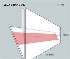 Etiketthållare EBVA 210-40F vinklad 27°
