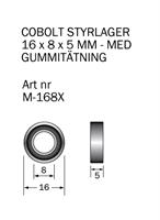 M-168X Kullager 16 x 8 x 5 mm