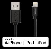 Iphone Lightning Kabel vit 1m