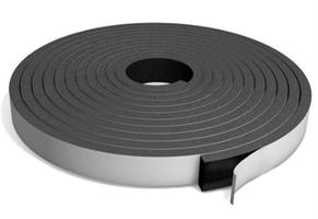 Cellegummi strips 15x2 mm sort m/lim - 20 meter