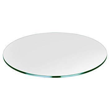 Bordplate Ø1100x6 mm - Herdet klart glass
