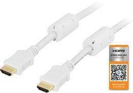 Kabel HDMI vit 5m ha-ha