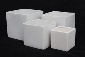 Kruka 4-kantig vit olika storlekar