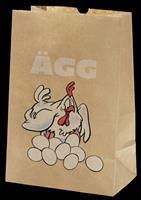 Äggpåse med tryck - 125-pack