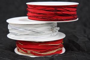 Band med glitterkant 5 mm olika färger