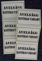 Etikett - Avelsägg Hanteras varsamt
